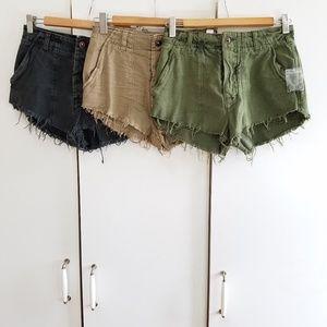 Free people size 2 shorts bundle new